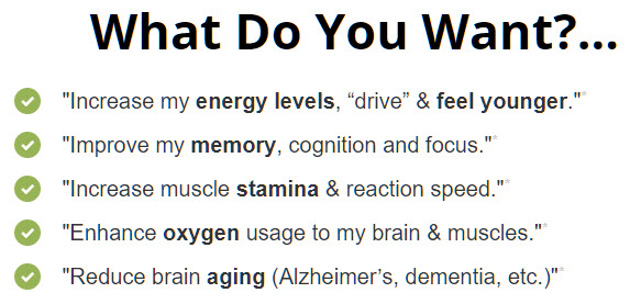 Increase my energy - drive & feel younger
